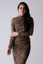 Renee Ruched Sweater Dress