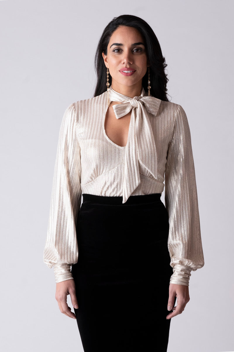 Scarlett Tie Neck Top