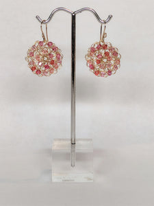 Crochet Ring Earring in Pink