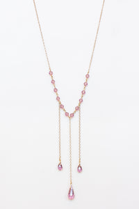 Light Amethyst Crystal Necklace