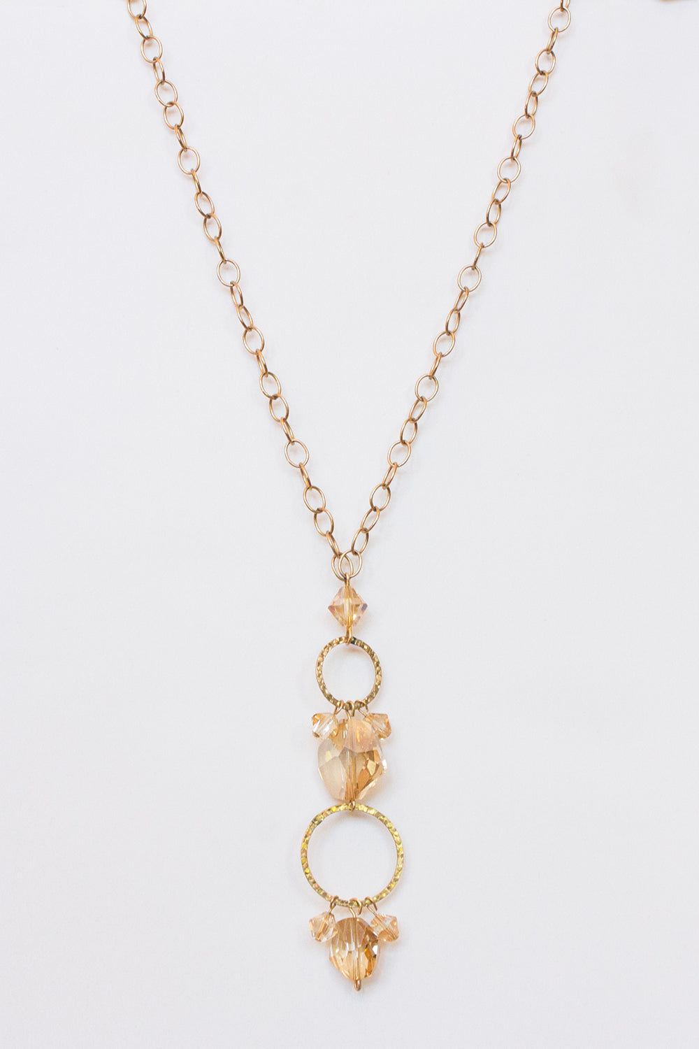 Golden Shadow Crystal Necklace