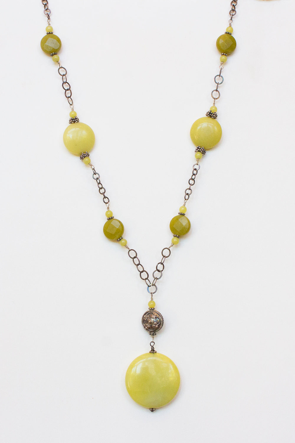 Lemon & Olive Jade Necklace