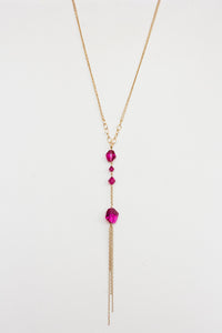 Fuschia Swarovski Crystal Necklace