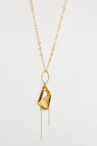 Golden Shadow Swarovski Crystal Necklace