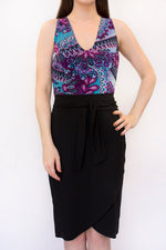 Jessica 4-Way Top - Purple Paisley