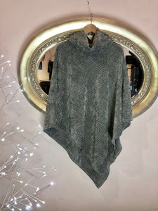 Grey Turtleneck Shawl