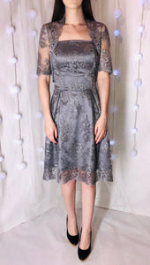 Lucy Lace Dress - Grey