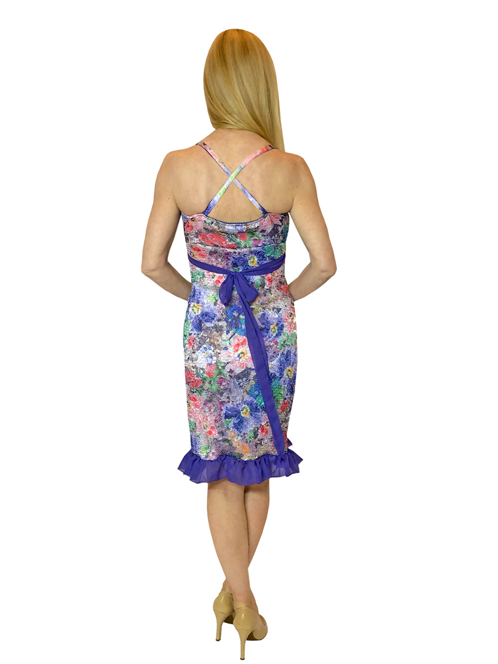 Purple Floral Monet Dress