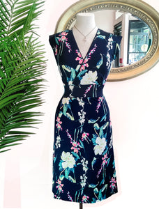 Faux Navy Floral Wrap
