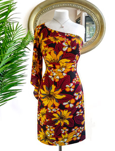 Alice Mustard Floral Dress