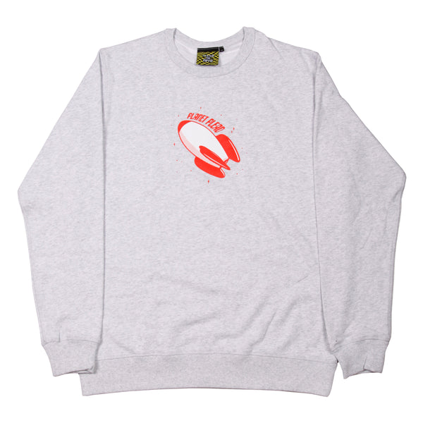 PLANET PLEAD CREWNECK,  ASH GREY