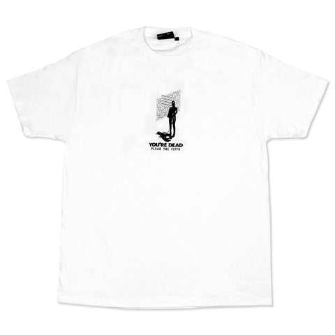 YOU'RE DEAD TEE, WHITE