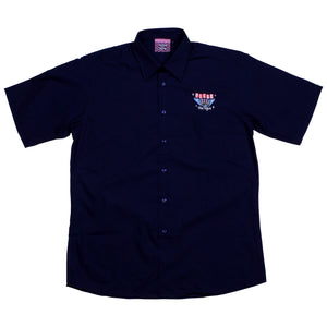 BOWLING BUTTON UP, NAVY