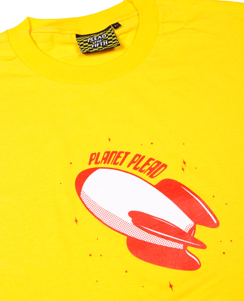 PLANET PLEAD T-SHIRT, YELLOW