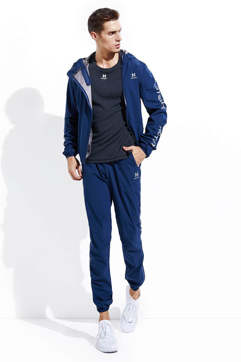 HOTSUIT MEN OUTDOOR RUNNING SAUNA SUITS NANO SILVER ( JACKET & PANTS ) 5855030