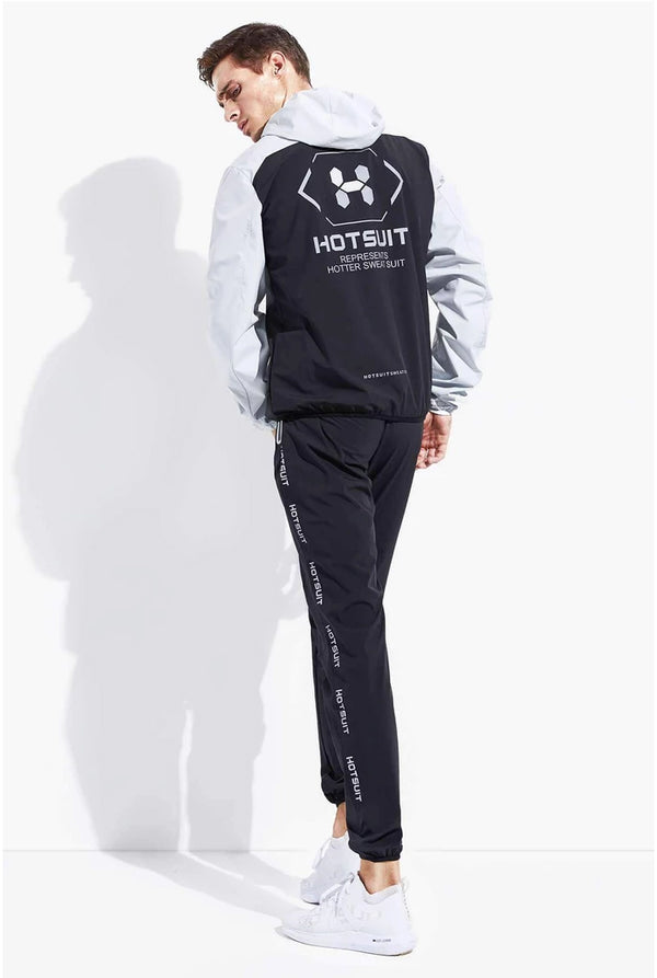 HOTSUIT MEN SAUNA SUIT NANO SILVER (JACKET & PANTS) - SUMMER NEW ARRIVAL 5855031