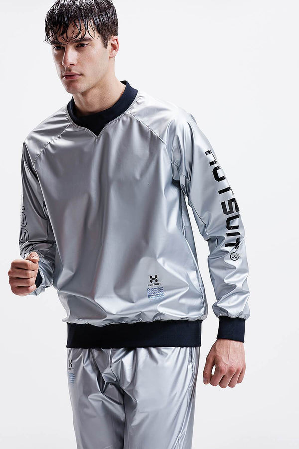 Hotsuit Men Sauna Suit Nano Silver ( Tops & Pants ) - Nano Silver Outside  5965002