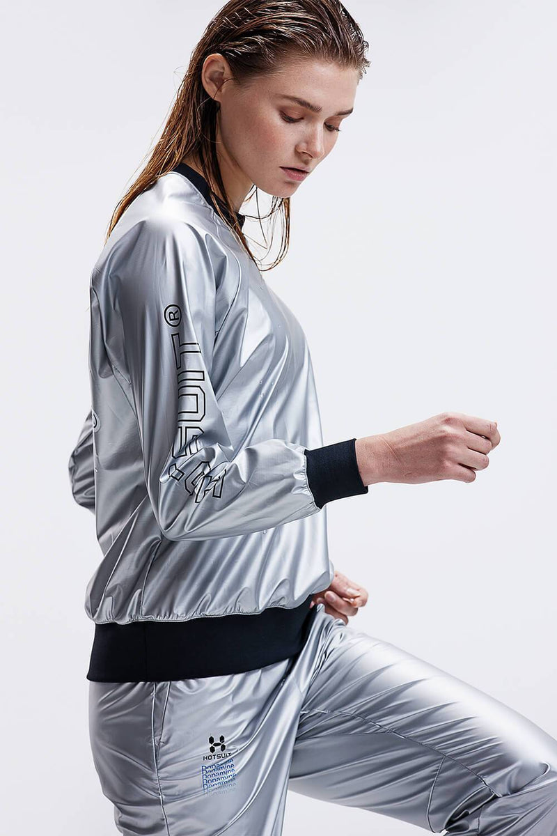 HOTSUIT WOMEN SAUNA SUIT NANO SILVER ( TOPS & PANTS ) - NANO SILVER OUTSIDE  6965002