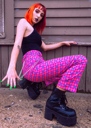 Pinkie Plaid Pants
