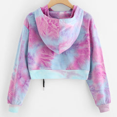 Cotton Candy Cropped Hoodie - Ryoko Market