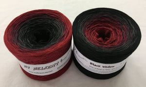 Wolltraum - My Melodyy Gradient Yarn: Black Widow