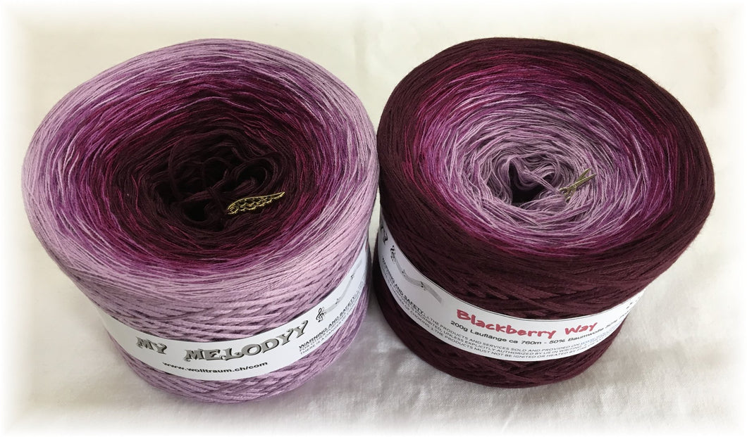 Wolltraum - My Melodyy Gradient Yarn: Blackberry Way