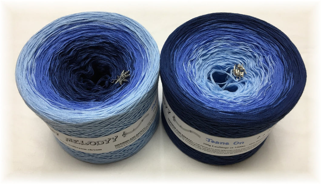 Wolltraum - My Melodyy Gradient Yarn: Jeans On