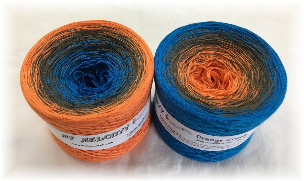 Wolltraum - My Melodyy Gradient Yarn: Orange Crush