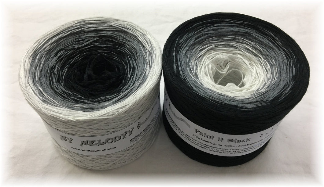 Wolltraum - My Melodyy Gradient Yarn: Paint it Black