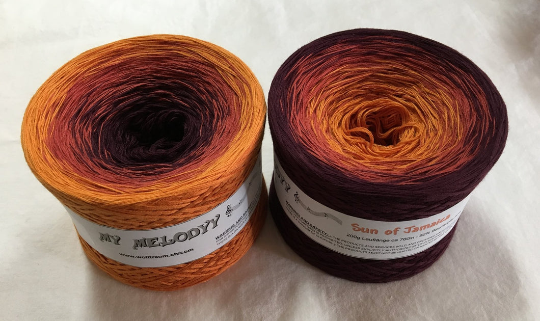 Wolltraum - My Melodyy Gradient Yarn: Sun of Jamaica
