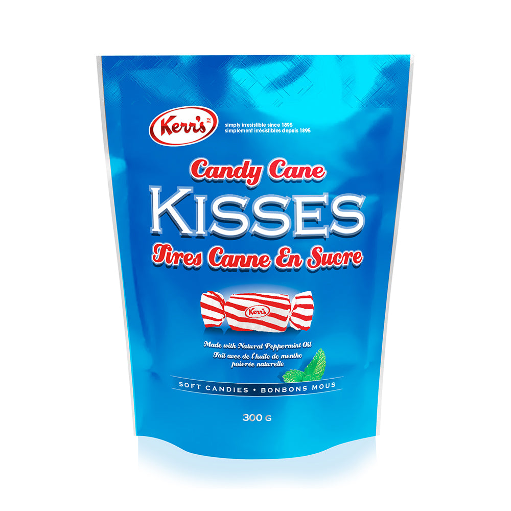 Kerr's candy cane kisses, chewy peppermint candy