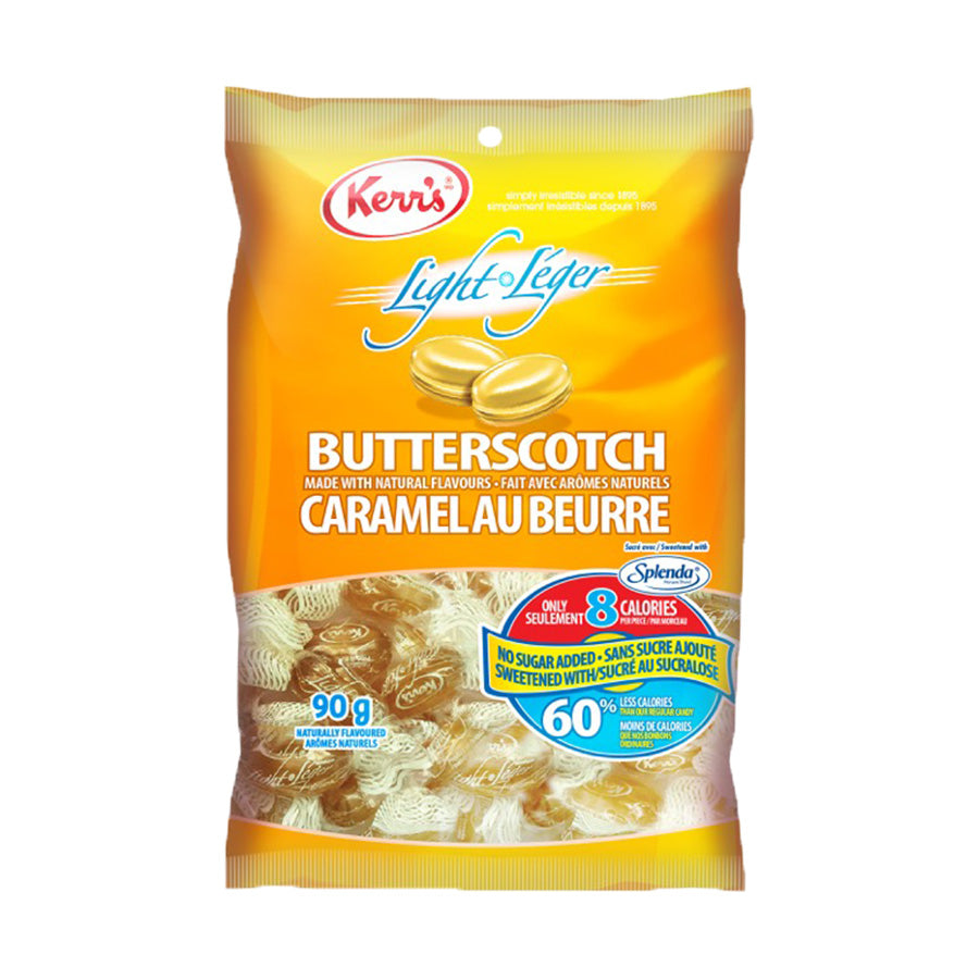 Kerr's butterscotch drops light no sugar added