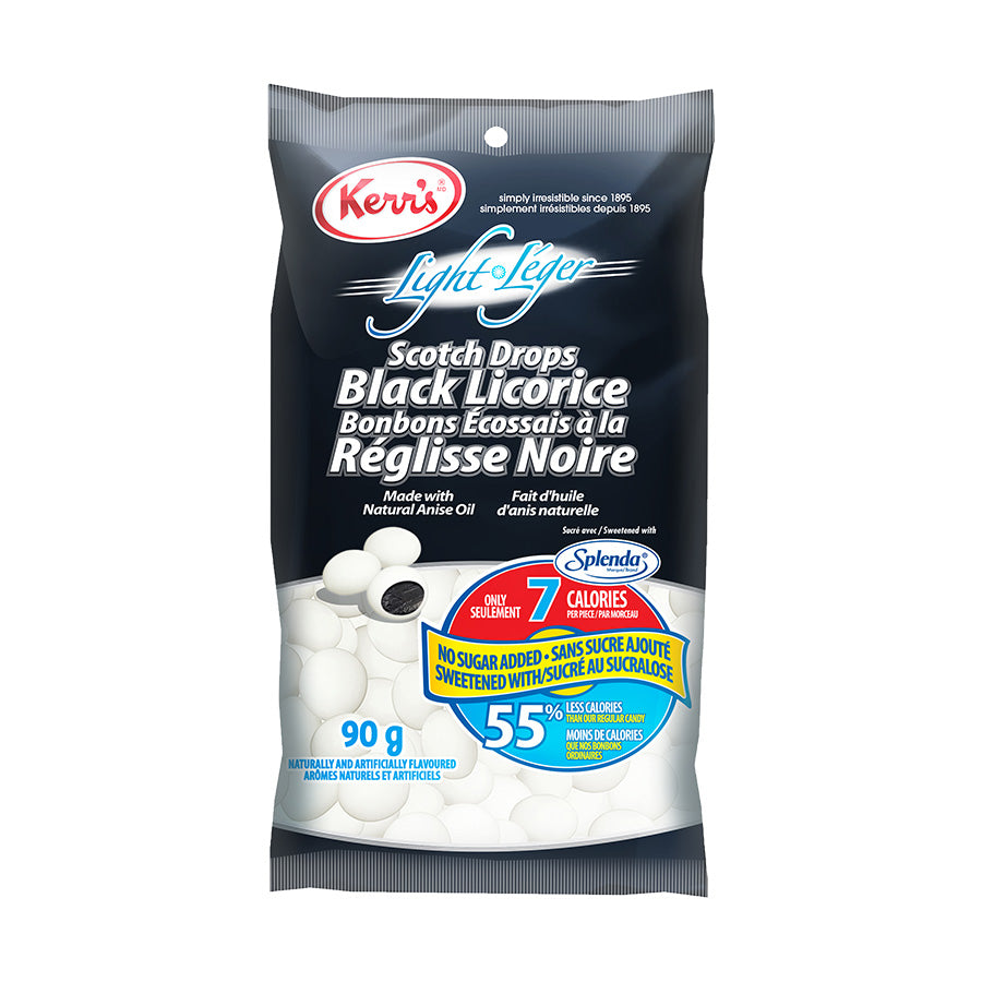 Kerr's black licorice scotch drops no sugar added light