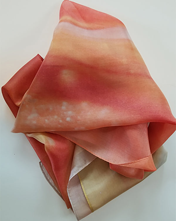 orange and gold silk scarf with photography by Abigail Kreuser