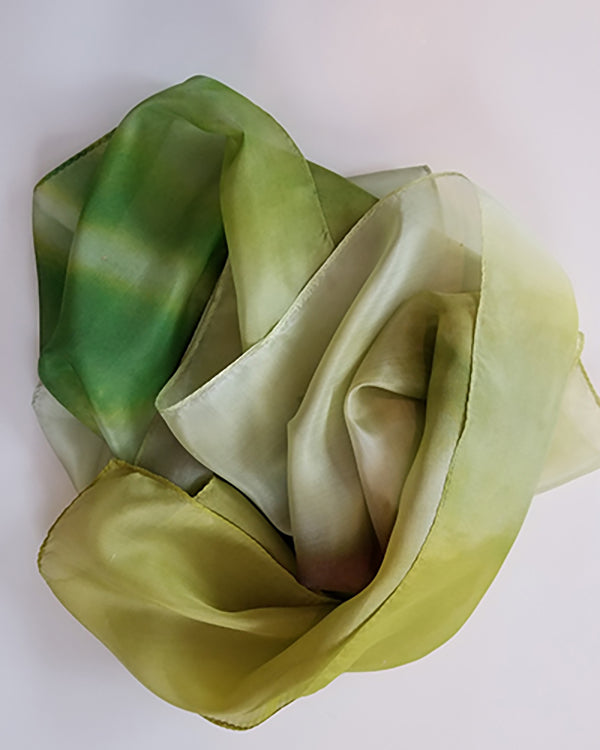 luscious green silk scarf -- limited edition photography by Abigail Kreuser