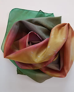 abstract flower photography by Abigail Kreuser printed on long silk scarf
