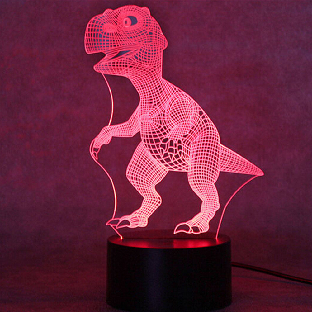 3D Multicolor Dinosaur Nightlight
