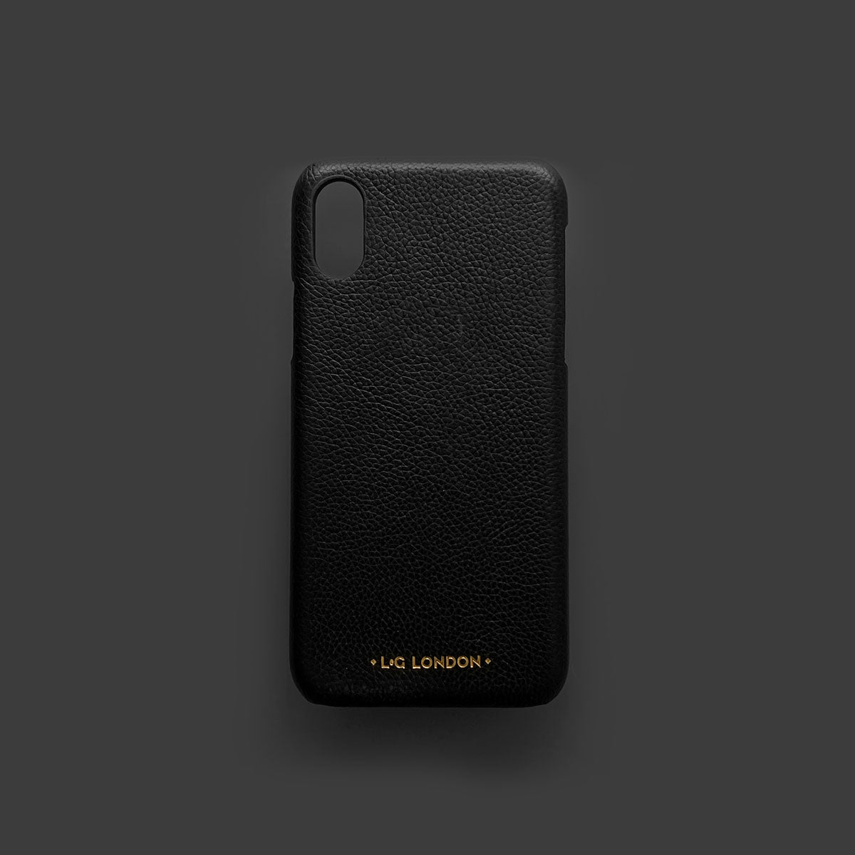 reputable site e69d4 ad437 L&G London Personalised Leather iPhone X Case
