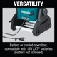 Makita DML811 18V LXT Lithium‑Ion Cordless/Corded Work Light, Light Only, New