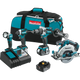 Makita XT449T 18V LXT® Lithium‑Ion Brushless Cordless 4‑Pc. Combo Kit (5.0Ah), (New) - ToolSteal.com