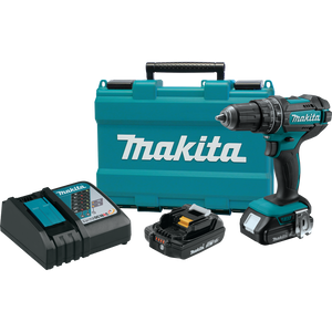 "Makita XPH10R-R 18V LXT® Lithium‑Ion Compact Cordless 1/2"" Hammer Driver‑Drill Kit (2.0Ah), (Reconditioned) - ToolSteal.com"