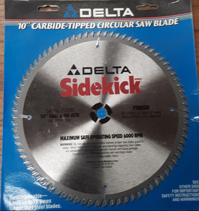 Delta 35-035 10 in. 80 ATB Carbide-tipped Finish Circular Saw, New