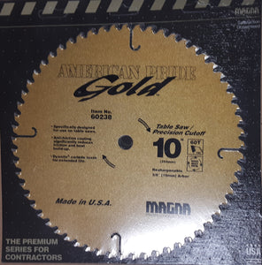 "Magna 60238 10"" 60T Carbide Circular Saw for Table and Miter Saws, (New)"
