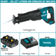 Makita XRJ05T 18V LXT® Lithium‑Ion Brushless Cordless Recipro Saw Kit (5.0Ah), (New) - ToolSteal.com