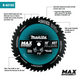 "Makita B-62103 10"" 45T Carbide‑Tipped Max Efficiency Miter Saw Blade (New) - ToolSteal.com"