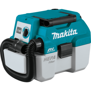 Makita XCV11Z 18V LXT® Lithium‑Ion Brushless Cordless 2 Gallon HEPA Filter Portable Wet/Dry Dust Extractor/Vacuum, [Tool Only], (New) - ToolSteal.com