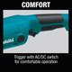 "Makita GA5020Y-R 5"" SJS™ Angle Grinder, with AC/DC Switch, (Reconditioned) - ToolSteal.com"