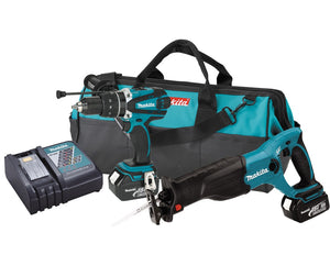 Makita LXT224-R 18V LXT Li-Ion Cordless 2-Pc. Combo Kit BJR182Z and BHP452Z, Reconditioned