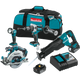 Makita XT448T 18V LXT® Lithium‑Ion Brushless Cordless Combo Kit (5.0Ah), (New) - ToolSteal.com