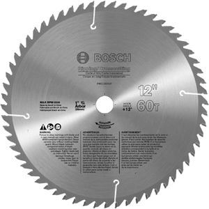 Bosch PRO1260GP 12-Inch 60 Tooth General-Purpose Woodworking Saw Blade (New)